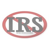 &quot;NO&quot; IRS Oval Decal