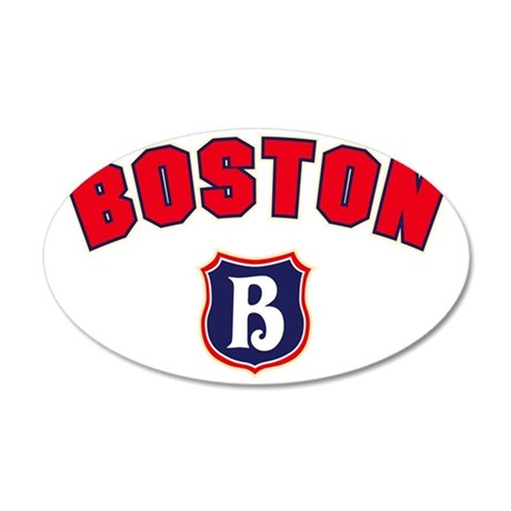 Boston Throwback 35x21 Oval Wall Decal