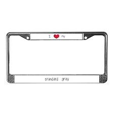 I Heart My Standard Gray License Plate Frame