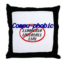compu phobic Throw Pillow