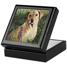 Yellow Lab Square Keepsake Box