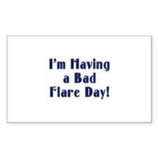 Bad Flare Day Rectangle Decal