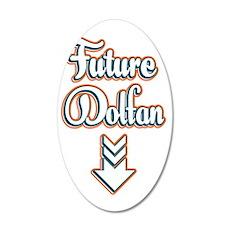 FutureDolfan_Dark 35x21 Oval Wall Decal