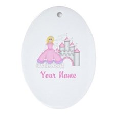 Princess Castle Personalized Ornament (Oval)