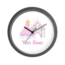 Princess Castle Personalized Wall Clock