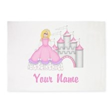 Princess Castle Personalized 5'x7'Area Rug