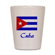 2-Cuba Flag Shot Glass
