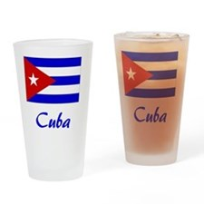 2-Cuba Flag Drinking Glass
