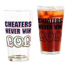 Cheaters_LOL_Dark Drinking Glass