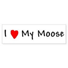 Invisible Moose Bumper Bumper Sticker