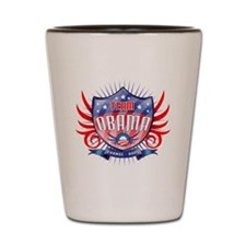 obama_shield_dark Shot Glass