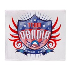 obama_shield_dark Throw Blanket