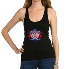 obama_shield_dark Racerback Tank Top