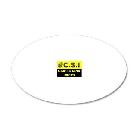 C.S.I 20x12 Oval Wall Decal