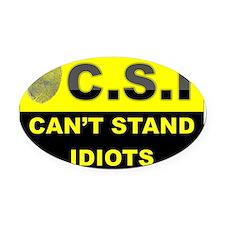 C.S.I Oval Car Magnet