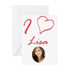 i_heart_lisa Greeting Card