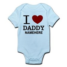 Personalized Name I Heart Daddy Infant Bodysuit