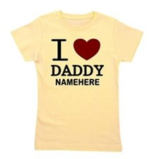 Personalized Name I Heart Daddy Girl's Tee