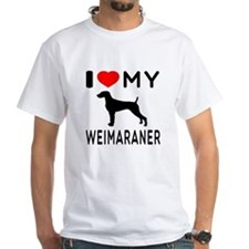I love My Weimaraner Shirt