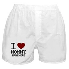 Personalized Name I Heart Mommy Boxer Shorts
