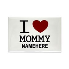 Personalized Name I Heart Mommy Rectangle Magnet