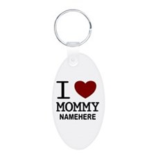 Personalized Name I Heart Mommy Keychains