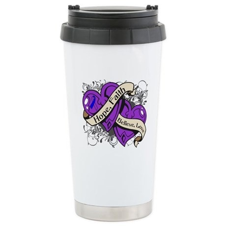 Pediatric Stroke Hope Hearts Ceramic Travel Mug