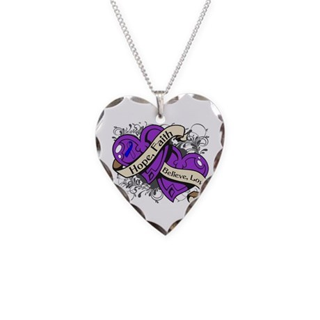 Pediatric Stroke Hope Hearts Necklace Heart Charm