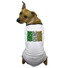 Irish Flag of Shamrocks Dog T-Shirt