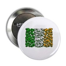 "Irish Flag of Shamrocks 2.25"" Button (100 pack)"