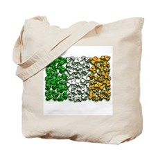 Irish Flag of Shamrocks Tote Bag
