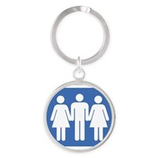3way Round Keychain