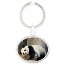 Copy of panda1 Oval Keychain
