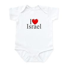 """I Love Israel"" Infant Bodysuit"