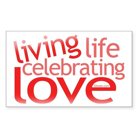 Celebrate Love Rectangle Sticker