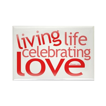 Celebrate Love Rectangle Magnet