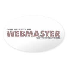 Webmaster Oval Decal