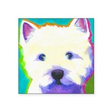 "cafepress westie Square Sticker 3"" x 3"""