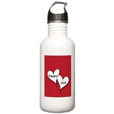 artsyHeartsRedEngaged2 Water Bottle