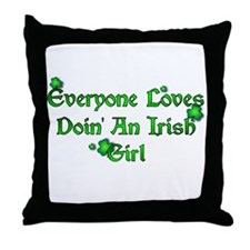 Doin The Irish Girl Throw Pillow