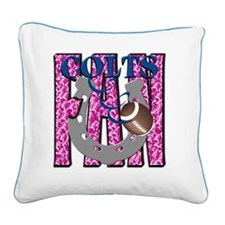 Colts FAN1 PINK Square Canvas Pillow