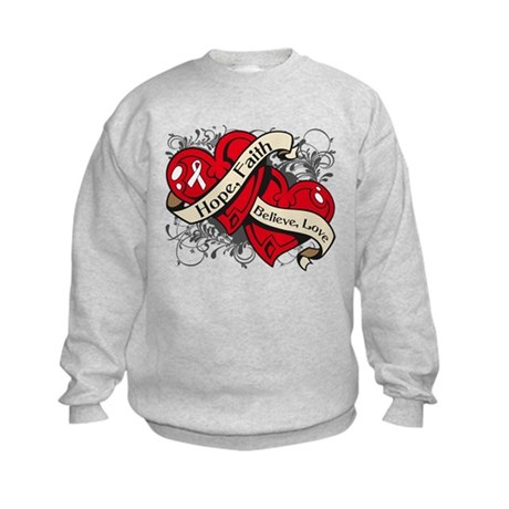 Osteoporosis Hope Hearts Kids Sweatshirt