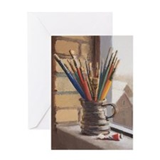 Paint Brushes 2 Greeting Card