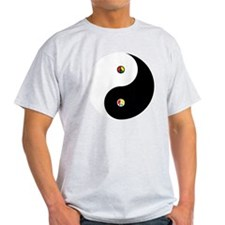 Peaceful Yin  Yang Black-T T-Shirt