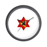 Rainbow Star Wall Clock