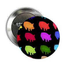 "Rainbow Pigs 2.25"" Button"