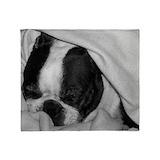 Boston terrier blanket Fleece Blankets