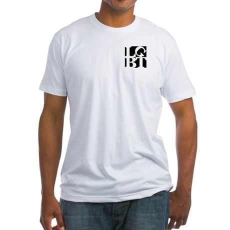LGBT Black Pocket Pop Fitted T-Shirt