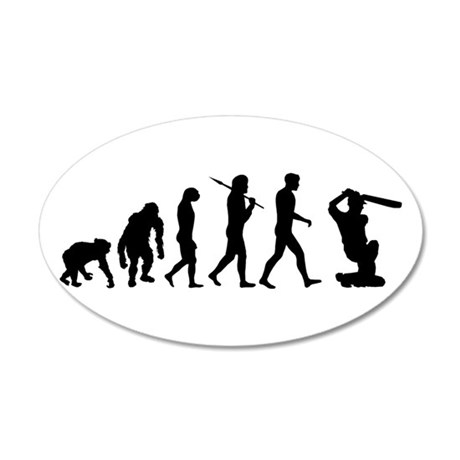 Evolution of Cricket 35x21 Oval Wall Decal