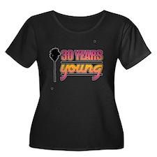 30 Years Women's Plus Size Dark Scoop Neck T-Shirt